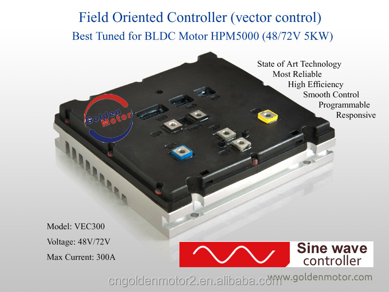 3KW-20KW electric car conversion kit with Brushless and gear less BLDC motor and New sine wave controller
