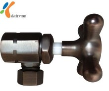 High Quality Made In Taiwan ORB Finish 90 Degree Brass Angle Valve