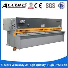 Ms8- 6*2500 alumium und MS stahlplatte blechschere cutter mit ce-zertifikat