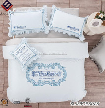 Exquisite embroidery cotton satin embroidered bed quilt products elegant and beautiful