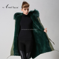 plush outlets parka jacket men breathable with genuine fox furs linner
