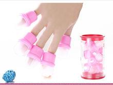 de color rosa de color 10 piezas pack usable de remojo de uñas