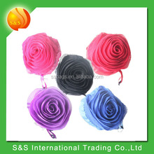 reusable foldable rose shopping tote bag