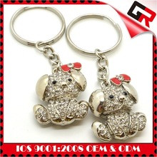 Hot selling low price raccoon tail keychain