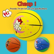 Professional official size rubber ball material small rubber basketball