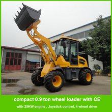 china small front end loader ZL09 with 25KW double cylinders engine