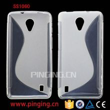 Alibaba express S Line design back cover for M4 SS1060 tpu case