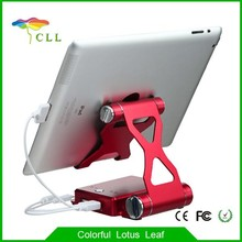 Best selling Tablet stand power bank 10000mAh with Dual USB