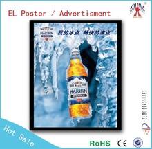 Fashion EL light poster waterproof outdoor indoor beer bar club led light poster