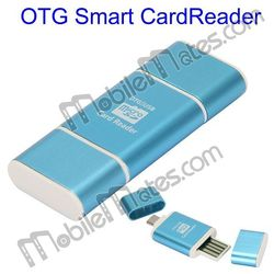 Best Quality Aluminium Alloy OTG Smart Card Reader Connection Kit for Samsung Sony LG etc,Metal Micro USB OTG