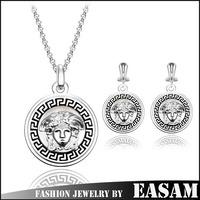 Euro big brand luxury medusa jewelry set,fashion jewelry sets