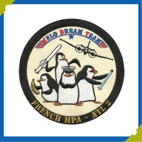 Hot New Arrival Penguin Dream Team Embroidered Iron On Appliques Brand Embroidery Patch