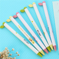 made in china ningbo stationery supplier bean sprout stylus gel pen with rubber grip