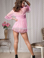 Whole sale pink lingerie mature women sexy babydoll