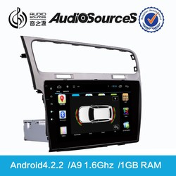 for VW Golf Double din Purchase Gps navigator with Canbus WIFI SWC IPAS OPS 1.6G CPU 1G RAM Gps navigation