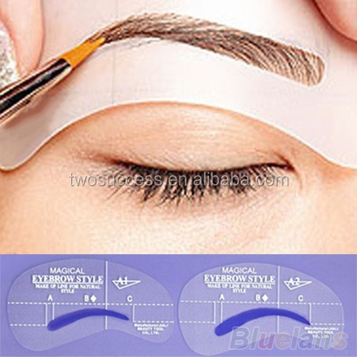 Eyebrow Design Card Magical Permanent Makeup Eyebrow Stencil For Mature Style