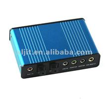 USB 6 Channel 5.1 Optical Audio External Sound Card