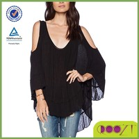 women new fashion blouse batwing model blouse for uniform