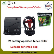 waterproof and rechargeable invisible portable electric puppy fence