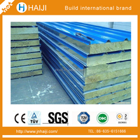 rockwool sandwich panels used for prefabricated house and clean rooms from China