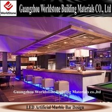 marble bar top for led commercial bar table