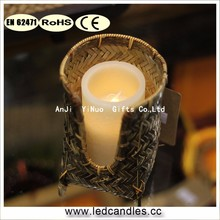 High quality home decoration Bamboo/wooden votive candle holder