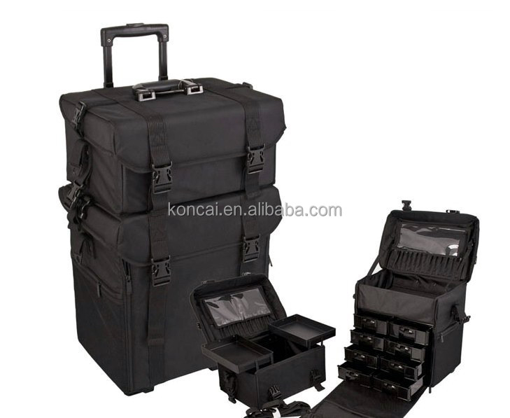 High quality aluminum carry case,tool box trolley,hard luggage with strong aluminum frame & heavy-duty wheels