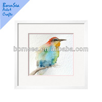 colourful light hand painting watercolour birds framed Photographic Print wall art painting