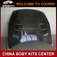 GTR R35 carbon fiber engine hood with vents for Niss-an GTR R35