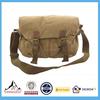 Mens New Canvas Shoulder Satchel Messenger Bag Black Khaki