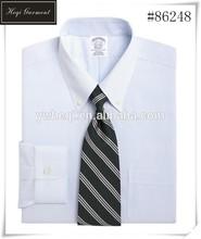 nuevo diseño de la tira de seda cruda de la oficina de la camisa para los hombres