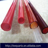 fused silica quartz red tube indonesia pipe donghai