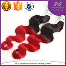 100% human red indian ombre hair braiding body wave types of ombre hair styles
