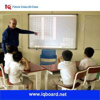 IQ 87inch wall mounting iwb ir multi touch smart board electronic whiteboard
