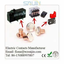 Bimetal Silver Copper Alloy Electrical Contact Rivets For Various Relay Switches