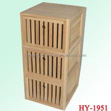 New design &multifunction Solid wood storage basket