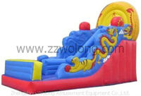 inflatable slip n slide, small jumping castle