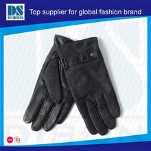 Dison guanti in pelle maschile di alta qualità con materiale verde