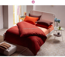 dark red color Cotton bedding set /plain dyed bedding set