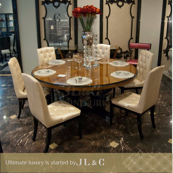 Jt03 18 round dining table with lazy susan in dining room for Latest dining table designs 2015