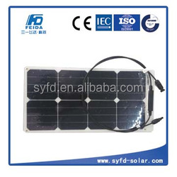 Small flexible solar panel 25w by sunpower cells