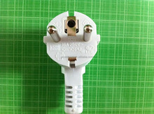 Power plug, Euro type 2-pole with dual earthing contact