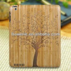 FL2185 2013 Guangzhou hot selling carve walnut wood bamboo phone case for ipad 3