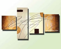 4 Panel abstract decorative modern wall art Aesthetic hand painted Canvas Oil Painting FOR house decoration room furnishing