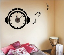 Creative music DIY 3D stereo wall stickers wall clock children's room home decor living room wall clock fashion gift