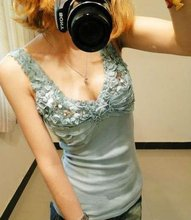 Shining fashion lady's t-shirt. sexy tops