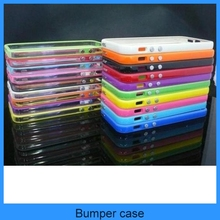TPU Rubber Bumper Frame Case Cover w/Metal Button bumper For New iPhone 5 5G(PT-I5B201)