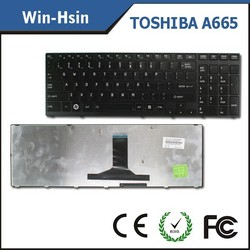 laptop computer keyboard layout for toshiba satellite A665 us layout