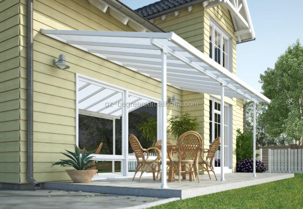 auvent patio couvercle balcon pergola m tal gazebo de toit. Black Bedroom Furniture Sets. Home Design Ideas
