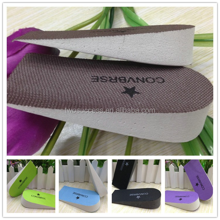 Invisible inner heightening shoe pad with half pad male and female